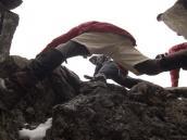 Легкое скалолазание для акклиматизации на Лавовую Башню (4600 м), 100 метров над лагерем.