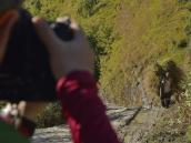 Сергей Доля снимает крестьянина с сеном