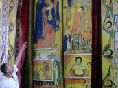 Расписные двери храма в Эфиопии