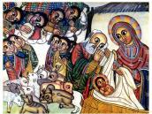 Эфиопские фрески. Рождество.