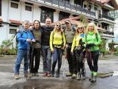 Наша группа перед выходом на трек 1 мая 2015 года в Сиккиме