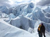 На леднике в Патагонии