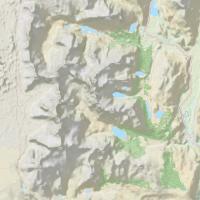 карта трека вокруг горы Фицрой