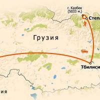 """Карта путешествия """"Восхождение на Казбек"""""""