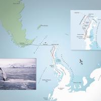 Схема маршрута на яхте к берегам Антарктиды