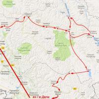 Мото-тур в Кашмир, Ладакх и Манали - схема