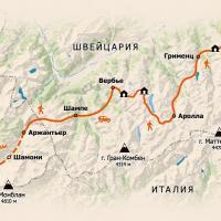 Схема маршрута Haute Route