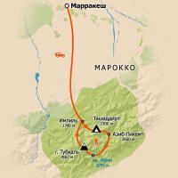 Схема маршрута - тур в Марокко