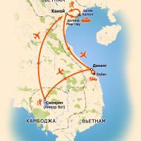 Карта тура Вьетнам-Камбоджа. Неизведанный Мир
