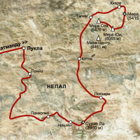 карта трека к БЛ Мера