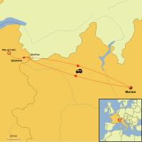 Схема маршрута на Монблан