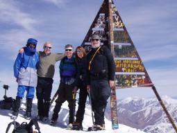 На вершине горы Тубкаль