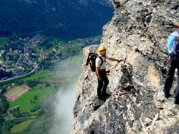 Виа-феррата в Альпах