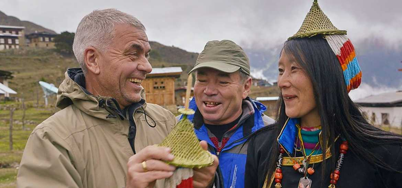 на трекинге в деревне Лайя, тур в Бутан