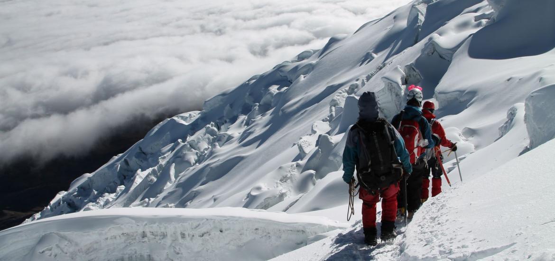 Спуск с Чимборасо после восхождения на Чимборасо