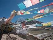 путешествие в Тибет, кора вокруг Кайласа. Северная стена Кайласа.