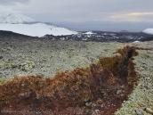 Трещина в земле из-за вулканической деятельности