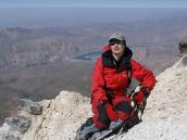 восхождение на Демавенд, вид вниз с 4600 м