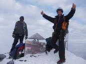 На пике Маргарита (5109 м)