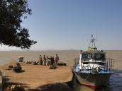 Озеро Тана в Эфиопии, причал для катеров.