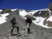 Фото из тура в Аргентину в 2006 году. Просмотр маршрута восхождения на пик Валлеситос