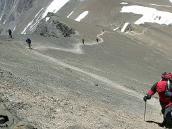 Фото из тура в Аргентину в 2006 году. Траверс на подходе к вершине пика Валлеситос