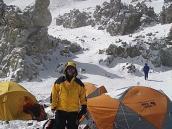 Фото из тура в Аргентину в 2006 году. Штурмовой лагерь на следующее утро после восхождения.