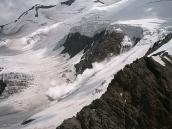 Фото из тура в Аргентину в 2006 году. Сход лавины на склонах Аконкагуа