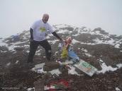 Фото из тура в Аргентину в 2006 году. На вершине Аконкагуа Сергей Гонтарь.