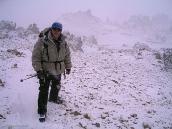 Фото из тура в Аргентину в 2006 году. Во время спуска с вершины повалил снег.