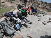 """Фото из тура в Иран в 2011 году. Первая акклиматизационная вылазка на 4100 м, всех слегка """"прижало к стерне"""" горной болезнью. Ничего, ночуем внизу!"""