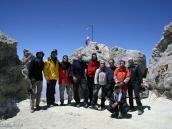 """Фото из тура в Иран в 2011 году. Группа """"Неизведанного Мира"""" на вершине Демавенда, 12 часов, 2 августа, 2011 г."""