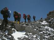 Фото из тура в Танзанию в 2009 году. Последние метры перед входом в кратер Килиманджаро.