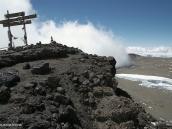 Фото из тура в Танзанию в 2009 году. Вид с пика Ухуру на внутреннюю часть кратера Килиманджаро.