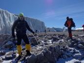 Траверс кратера Килиманджаро, ледник на экваторе