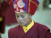 Фото из тура в Индию в 2005 году. Послушник во время праздника в ладакхском монастыре.