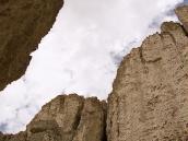 Фото из тура в Индию в 2005 году. Узкий безводный каньон, по которому проходит маршрут первого дня треккинга.