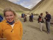 """Фото из тура в Индию в 2005 году. В конце второго дня лагерь разбивается под перевалом Конске-Ла (4950 м), что означает """"Воротник""""."""