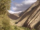 Фото из тура в Индию в 2005 году. Вид на перевал Конске-Ла от деревни Хинджу.