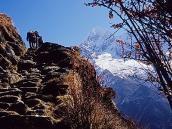 Фото из тура в Непал в 2004 году. Классический вид на тропе  к Эвересту.