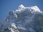 Фото из тура в Непал в 2004 году. Гора Кантега: крупный план похож на сфинкса.