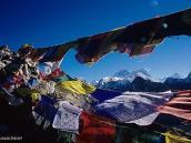 Фото из тура в Непал в 2004 году. Вид на Эверест и Лхоцзе с вершины Гокио-Ри (5300 м)