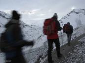 Фото из тура в Непал в 2011 году. Утренний выход из Базового лагеря Тиличо.