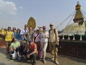 Фото из тура в Непал в 2012 году. А вот и сама ступа. На ее фоне наша группа.