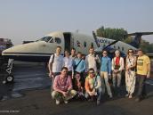 Фото из тура в Непал в 2012 году. Готовимся на маленьком самолетике облететь Эверест.