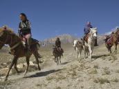 """Фото из тура в Непал в 2012 году. Название """"Мустанг"""", как видно, обязывает и женщин владеть джигитовкой ))"""