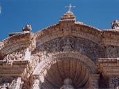 Фото из тура в Перу в 2004 году. Резной вулканический туф, из которого построены церкви в Арекипе, похож на зефир.