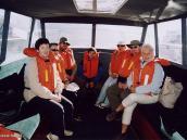 Фото из тура в Перу в 2004 году. Группа готова к выходу из порта  Пуно на озеро Титикака.