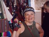 Фото из тура в Перу в 2004 году. Перуанская шапочка - мечта настоящей модницы.