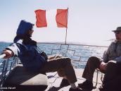 Фото из тура в Перу в 2004 году. На просторе Титикаки под развевающимся перуанским флагом.
